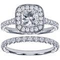 18k White Gold 2 1/2ct TDW Princess Diamond Bridal Set