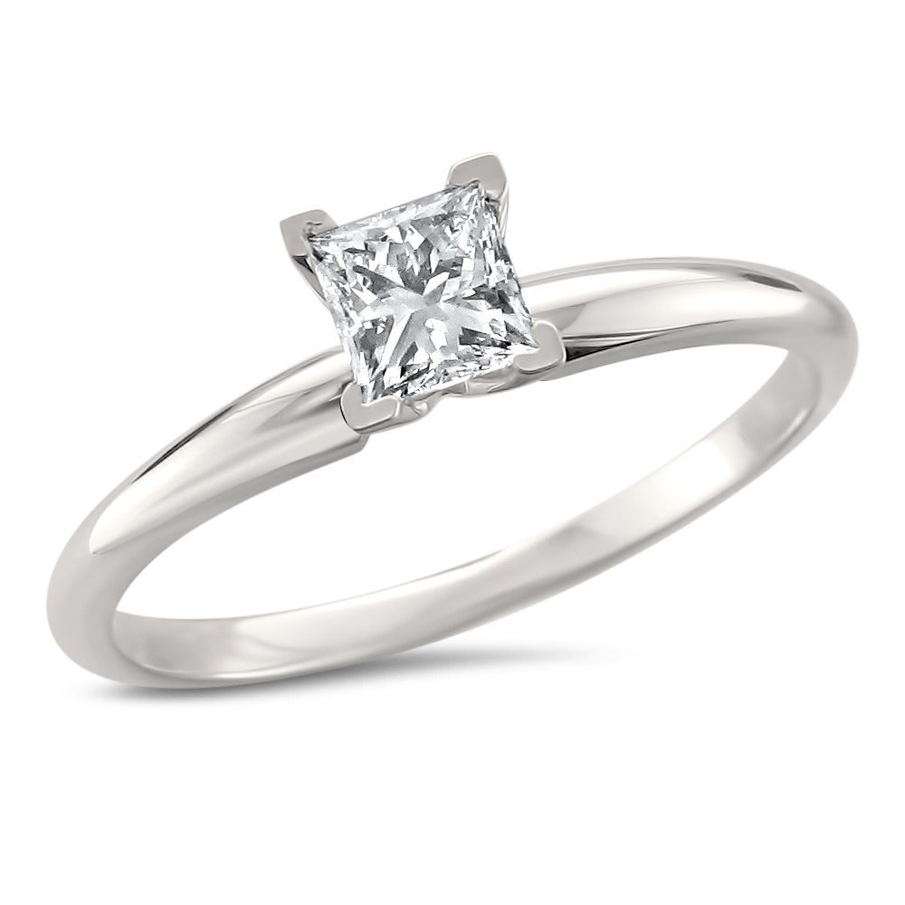 14k White Gold 1/2ct Princess Solitaire Engagement Ring (G-H, VS1-VS2) at Sears.com