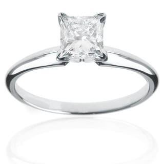 14k White Gold 1ct TDW Princess Diamond Engagement Ring (G-H, VS1-VS2)