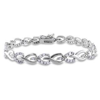 Miadora Sterling Silver 1 3/5ct TDW Diamond Bracelet (I-J, I2-I3)