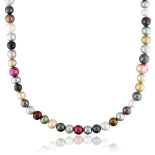 Miadora Freshwater Multi-color Pearl Endless Necklace (8-11 mm)