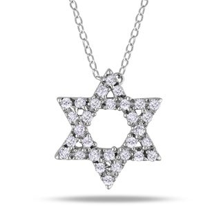 M by Miadora Sterling Silver 1/8ct TDW Diamond Star Necklace (H-I, I2-I3)