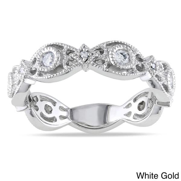 Miadora 14k White or Yellow Gold 1/4ct TDW Diamond Ring (G-H, I1-I2)