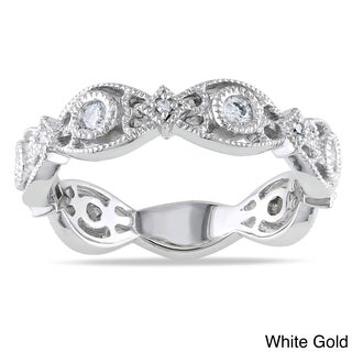 Miadora 14k White or Yellow Gold 1/4ct TDW Diamond Ring (G-H, I1-I2)