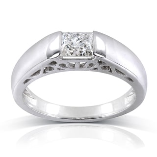Annello 10k Gold 4/5 ct Princess Tension Set Diamond Ring (G-H, I2-I3)