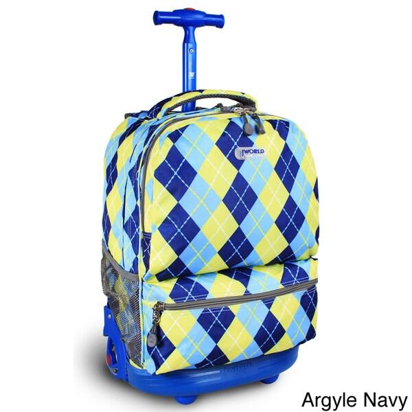 J World Sunshine 18-inch Rolling Backpack