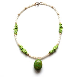 Green Turquoise and Lime Necklace