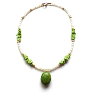 Every Morning Design Green Turquoise and Lime Necklace
