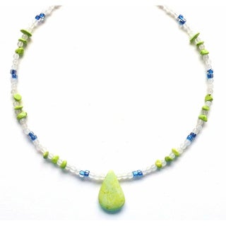 Lime Turquoise Summer Necklace