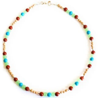 Every Morning Design Turquoise, Chalcedony and Jasper Necklace