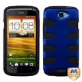 BasAcc Titanium Dark Blue/ Black Fishbone Case for HTC One S