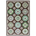 Indoor/Outdoor Tokens Brown Rug (8' x 10')