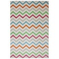 Indoor/Outdoor Bright Beams Multi Rug (5'3 x 7'6)