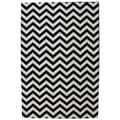 Indoor/Outdoor Bright Beams Black Rug (5'3 x 7'6)