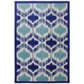 Indoor/Outdoor Illuminated Blue Rug (8' x 10')