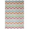 Indoor/Outdoor Bright Beams Multi Rug (8' x 10')