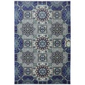 Indoor/Outdoor Piazza Blue Rug (5'3 x 7'6)