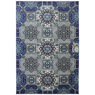 Indoor/Outdoor Piazza Blue Rug (8' x 10')