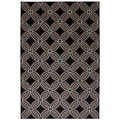 Indoor/Outdoor Chain Link Black Rug (5'3 x 7'6)