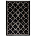 Indoor/Outdoor Networked Black Rug (5'3 x 7'6)
