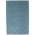 Indoor/Outdoor Networked Sky Blue Rug (8' x 10')