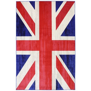 Indoor/Outdoor Union Jack Rug (5'3 x 7'6)