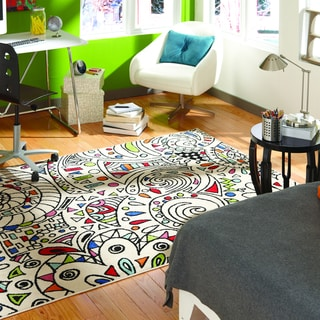 Indoor/Outdoor Jamboree Multi Rug (5'3 x 7'6)