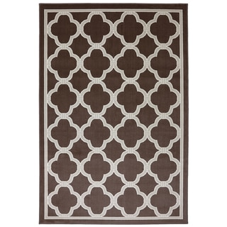Indoor/Outdoor Networked Brown Rug (8' x 10')