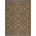 Martha Stewart Links Gold/ Black Indoor/ Outdoor Rug (4'x 5'7)