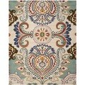 Safavieh Handmade Bella Ivory/ Blue Wool Rug (6' x 9')