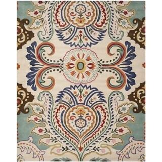 Safavieh Handmade Bella Ivory/ Blue Wool Rug (8' x 10')