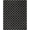 Handmade Moroccan Black-and-White Wool Rug (6' x 9')