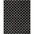Safavieh Handmade Moroccan Geometric Black Wool Rug (8' x 10')