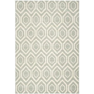 Handmade Moroccan Grey Contemporary Wool Rug (4' x 6')