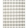Safavieh Transitional Handwoven Moroccan Reversible Dhurrie Grey Wool Rug (6' x 9')