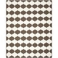 Handwoven Moroccan Dhurrie Brown Wool Geometric Rug (8' x 10')