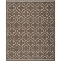 Handwoven Moroccan Dhurrie Traditional Brown Wool Rug (6' x 9')