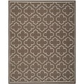 Transitional Handwoven Moroccan Dhurrie Brown Wool Rug (8' x 10')