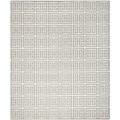 Handwoven Moroccan Dhurrie Gray Pure Wool Rug (6' x 9')