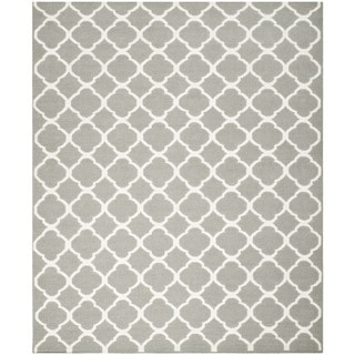 Safavieh Hand-woven Moroccan Dhurrie Grey Wool Rug (6' x 9')