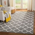 Hand-woven Moroccan Dhurrie Grey Wool Rug (6&#39; x 9&#39;)