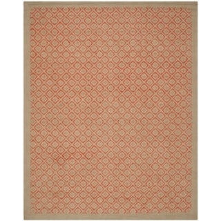 Martha Stewart Blossom Lattice Quince Blossem Red Wool Rug (8'6 x 11'6)