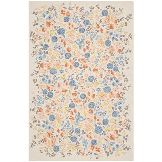 Martha Stewart Watercolor Garden Almond Wool Rug (7'9 x 9'9)