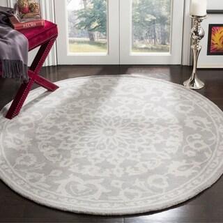 Safavieh Handmade Bella Grey/ Silver Wool Rug (5' x 5' Round)