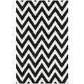Safavieh Handmade Moroccan Cambridge Chevron Black Wool Rug (4' x 6')