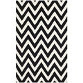 Safavieh Handmade Moroccan Cambridge Chevron Black Wool Rug (6' x 9')