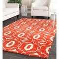 Safavieh Handmade Moroccan Chatham Orange Wool Rug (8' x 10')