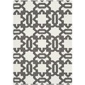 Safavieh Handwoven Gray-Lattice Moroccan Dhurrie Ivory Wool Rug (3' x 5')