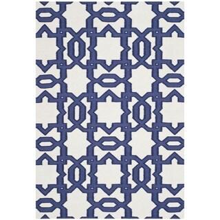 Safavieh Handwoven Moroccan Reversible Dhurrie Ivory Rectangular Wool Rug (9' x 12')