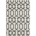 Handwoven Indoor/Outdoor Moroccan Dhurrie Ivory Wool Rug (4' x 6')